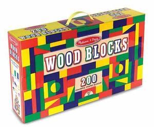 200 Piece Wood Blocks Set