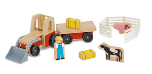 Classic Wooden Farm Tractor Play Set