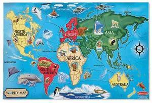 World Map Floor Puzzle - 33 Pieces