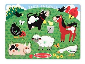 Farm Animals Peg Puzzle - 6 Pieces