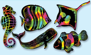 Scratch Art Sea Life Scratchin' Shapes Group Pack