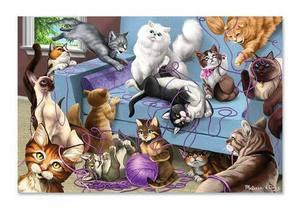 Feline Fun Cardboard Jigsaw Puzzle - 200 Pieces
