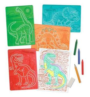 Textured Stencils - Dinosaurs