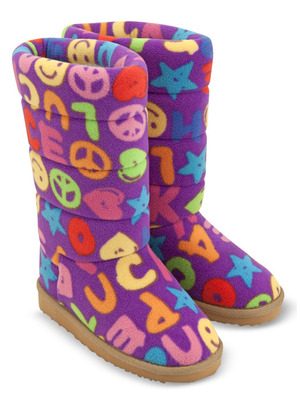 Beeposh Ricky Boot Slippers (S)