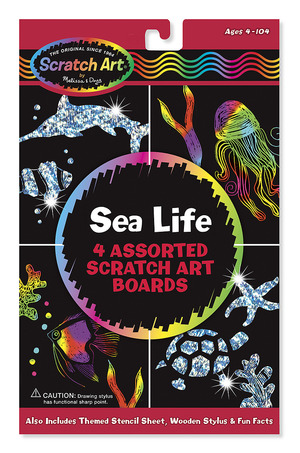 Scratch Magic&#174; Draw & Learn&#174; Sea Life