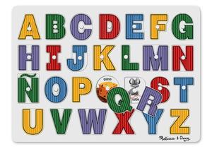 See-Inside Spanish Alphabet Peg Puzzle - 27 pieces