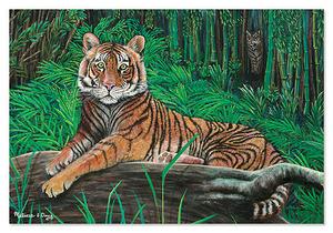 Tiger Trail Cardboard Jigsaw Puzzle - 100 Pieces