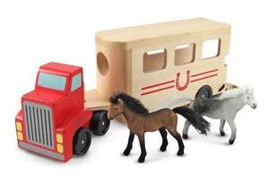 Horse Carrier Wooden Vehicles Play Set
