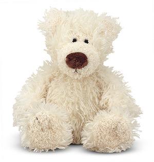 Baby Roscoe Vanilla Teddy Bear Stuffed Animal
