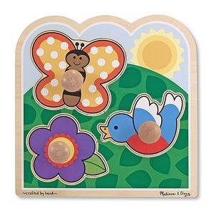 In The Garden Jumbo Knob Puzzle - 3 pieces