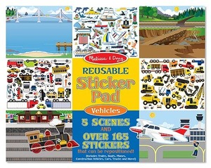 Reusable Sticker Pad - Vehicles