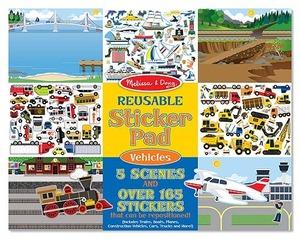 Reusable Sticker Pad - Vehicles