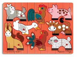 Farm Mix 'n Match Peg Puzzle - 8 Pieces