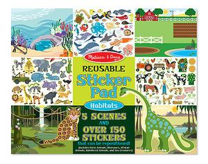 Reusable Sticker Pad - Habitats