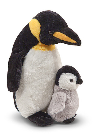 Webber Penguin with Baby Chick Stuffed Animal