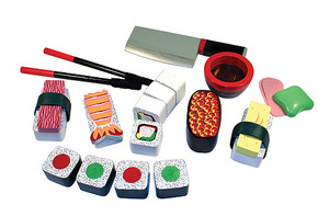 Sushi Slicing Play Set - Wooden Play Food