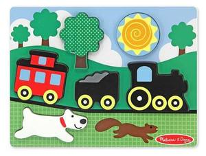 Chunky Puzzle Scene - Red Caboose - 6 Pieces