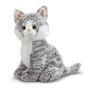 Greycie Tabby Cat Stuffed Animal