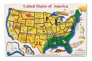 Wooden USA Map Puzzle