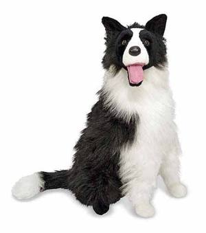 Border Collie Dog Giant Stuffed Animal