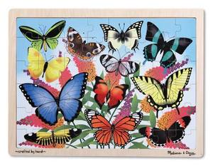 Butterfly Garden Wooden Jigsaw Puzzle - 48 pieces
