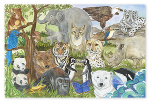Endangered Species Floor Puzzle - 48 pieces