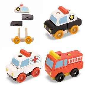 Stacking Emergency Vehicles - Classic Wooden Toy
