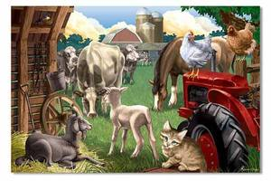Farm Friends Floor Puzzle - 24 Pieces