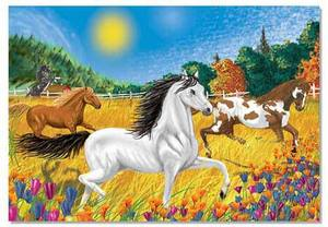 Horses in the Meadow Jigsaw Puzzle - 100 Pieces
