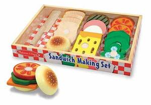 Sandwich Making Set - Wooden Play Food
