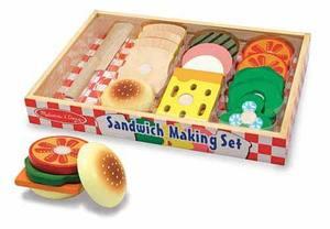 Sandwich Making Set - Wooden Play Food