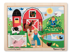 Farm Fun Wooden Jigsaw Puzzle - 12 pieces