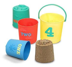 Seaside Sidekicks Nesting Pails Sand Toys