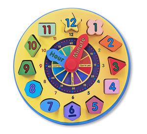 Wooden Shape Sorting Clock