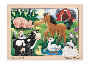 On the Farm Wooden Jigsaw Puzzle - 12 Pieces