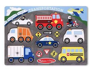 Transportation Peg Puzzle - 6 Pieces