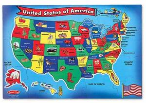 U.S.A. (United States) Map Floor Puzzle - 51 Pieces