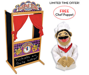 Deluxe Puppet Theater with FREE Chef Puppet