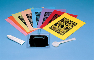 Scratch Art Subi Block Printing Paper Colors (40 sheets 12
