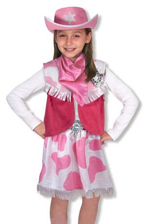 Cowgirl Role Play Costume Set