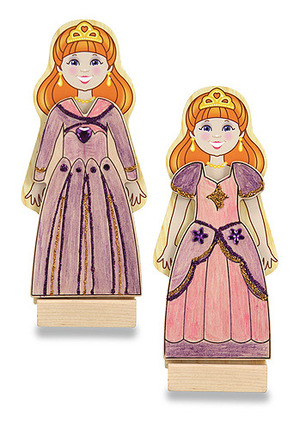 Decorate-your-own Wooden Magnetic Princess Fashions