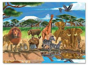 On the Savannah Cardboard Jigsaw Puzzle - 300 Pieces