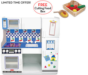 Deluxe Kitchen with FREE Cutting Food Box