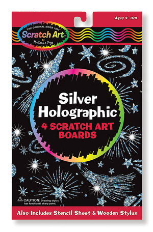 Scratch Art® Silver Holographic Pack