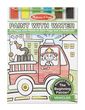 Vehicles Paint with Water Kids' Art Pad