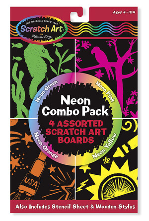 Scratch Art® Neon Combo 4-Pack
