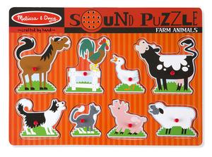 Farm Animals Sound Puzzle - 8 Pieces