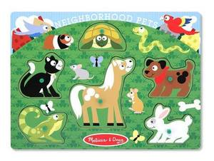 Neighborhood Pets Peg Puzzle - 6 Pieces