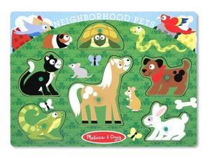 Neighborhood Pets Peg Puzzle - 6 Pieces