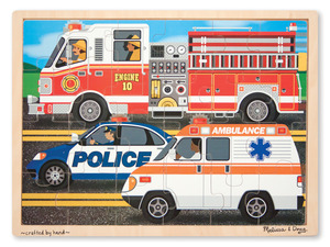To the Rescue Wooden Jigsaw Puzzle - 24 Pieces